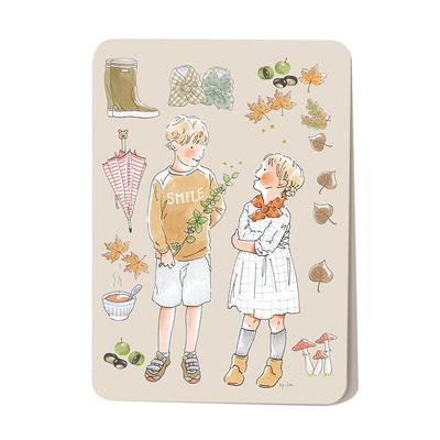 Carte postale L'automne 10,5 x 14,5 cm