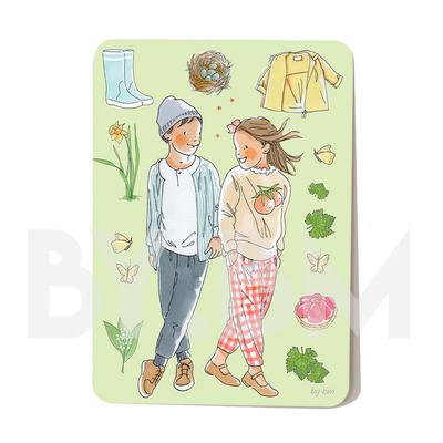 Carte postale Le printemps 10,5 x 14,5 cm