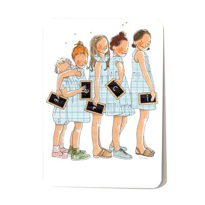 Carte postale Merci 10,5 x 14,5 cm