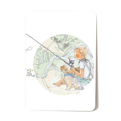 Carte postale A la pêche 10,5 x 14,5 cm