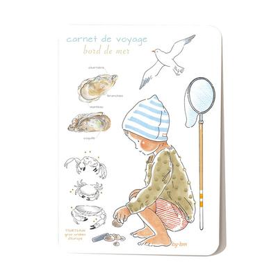 Carte postale Carnet de voyage à la mer 10,5 x 14,5 cm
