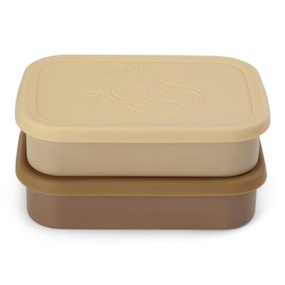 Lot de 2 boîtes à repas coloris Vanille / Yellow