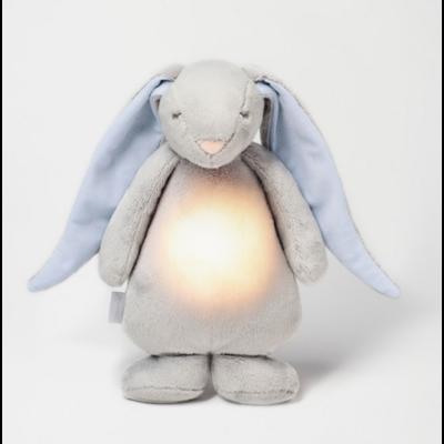 Lapin magique Moonie coloris gris et bleu