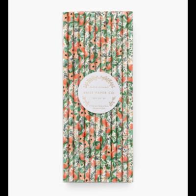 25 pailles en papier - Wildflower