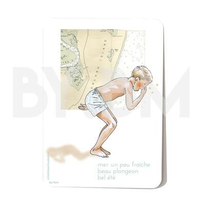Carte postale Beau plongeon 10,5 x 14,5 cm