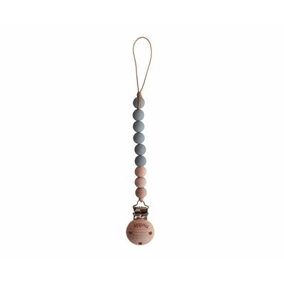 Attache-tétine Mushie coloris Stone