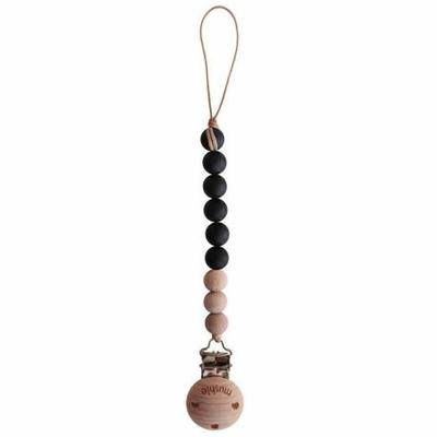 Attache-tétine Mushie coloris Black