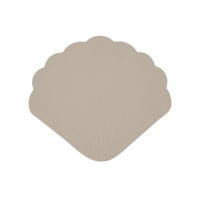 Tapis de bain coquillage anti-dérapant - Warm grey