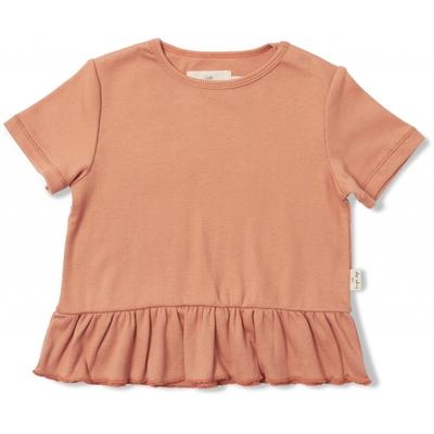 Tee-shirt à volants Niroli coloris Macaroon