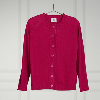 Cardigan Alexis coloris Raspberry