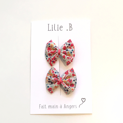 Duo de barrettes Liberty Phoebe Flowers
