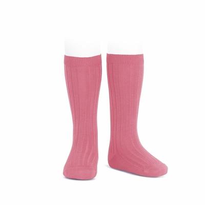 Chaussettes hautes maille côtelée coloris Bluher