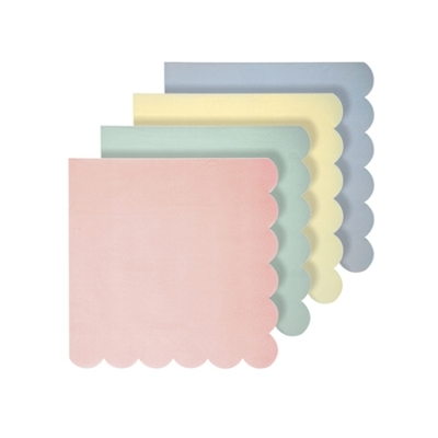 Lot de 20 petites serviettes Pastel