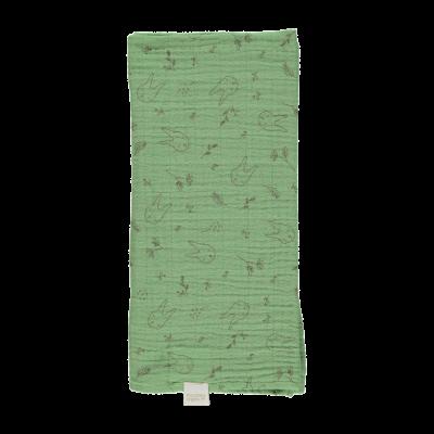 Petit lange Pavot coloris Greenjade et lapins