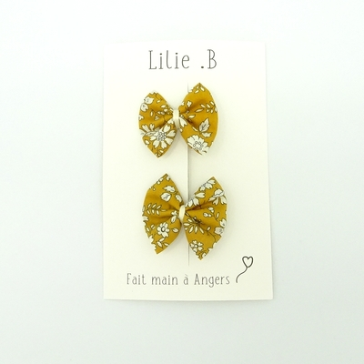 Duo de barrettes Liberty Capel moutarde