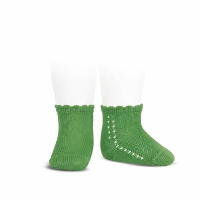 Socquettes ajourées en coton perlé coloris Andalou