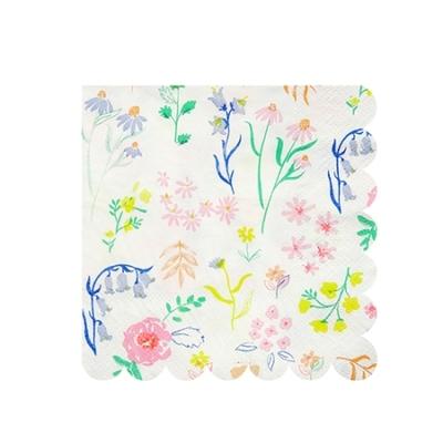 Lot de 20 petites serviettes Wildflower