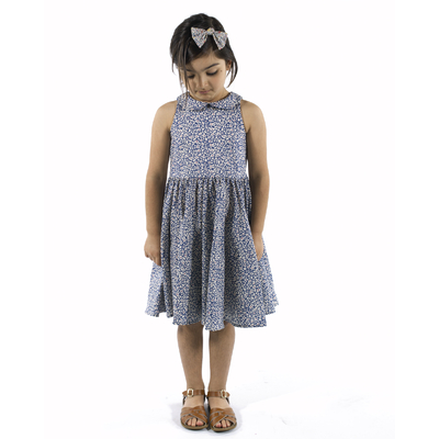 Robe Maria en Liberty Feather Fields (36 mois, 4 ans, 10 ans)