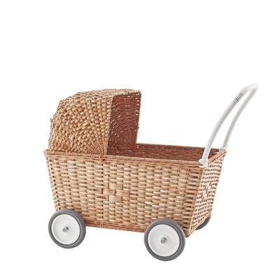 Landau pour poupées en rotin Strolley coloris naturel