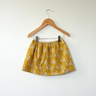 Jupe en Liberty Capel moutarde modèle Petite Fille (12 mois)