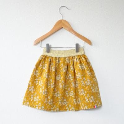 Jupe en Liberty Capel moutarde modèle Demoiselle