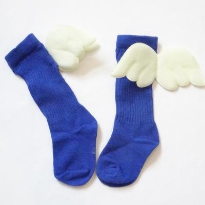 """Chaussettes hautes """"petit ange"""" coloris bleu"""
