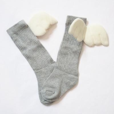 """Chaussettes hautes """"petit ange"""" coloris gris"""