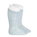 chaussettes-hautes-coton-ajouree-geometrique-perle