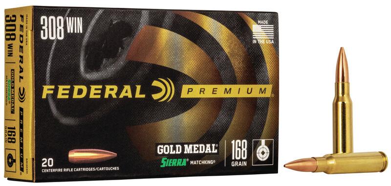 FEDERAL 308 Gold Medal 168 gr SMK
