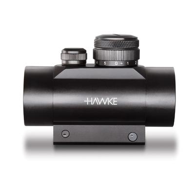 Point Rouge tubulaire HAWKE 1x30 pour fixation sur rail 9 à 11mm