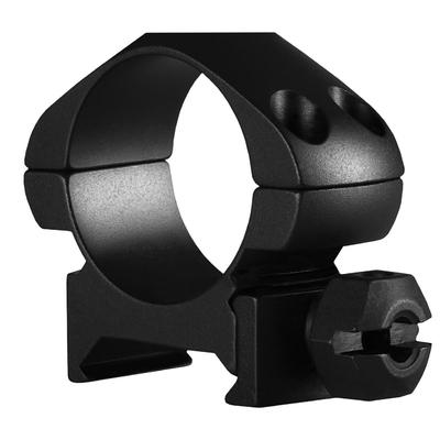 Colliers Acier HAWKE diamètre 1 pouce pour montage sur rail Picatinny (Bas, Medium, Hauts)