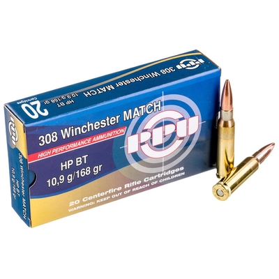 Cartouches PARTIZAN  HP BT Match 168 gr .308