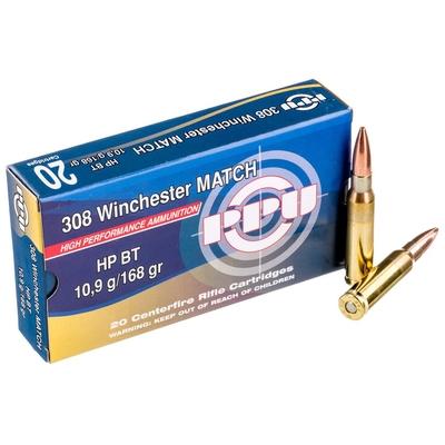Cartouches PARTIZAN  HP BT Match 168 gr .308