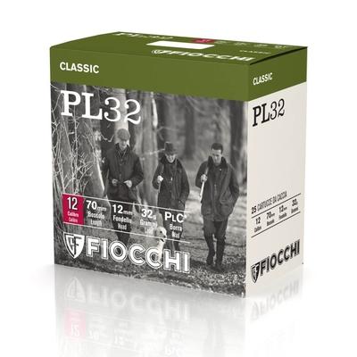 Cartouches FIOCCHI PL 32 - Calibre 12/70 - Plombs 4 à 10