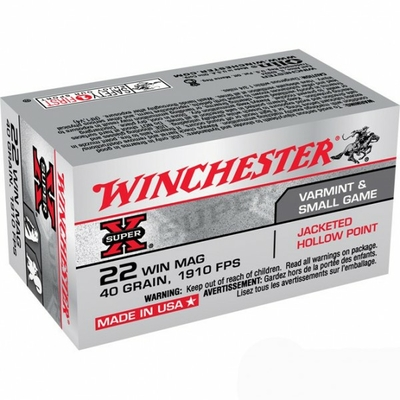 Cartouches WINCHESTER Super X JHP  .22 Magnum /150