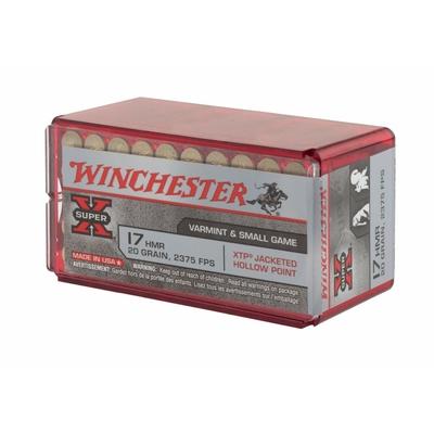 Cartouches WINCHESTER Super X  .17 HMR