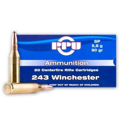 Cartouches PARTIZAN  SP 90 gr  calibre .243