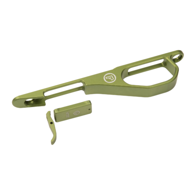 Kit Pontet + talon de chargeur pour CZ 455   Couleur : Vert