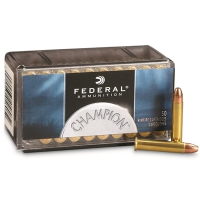 Cartouches FEDERAL Champion FMJ   Calibre .22 Magnum