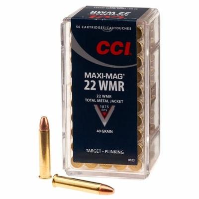 Cartouches CCI Maxi Mag  Calibre .22 Magnum