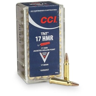 Cartouches CCI TNT  Calibre .17 HMR