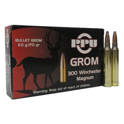 Cartouches PARTIZAN GROM 170 gr   Calibre .300 Win Mag