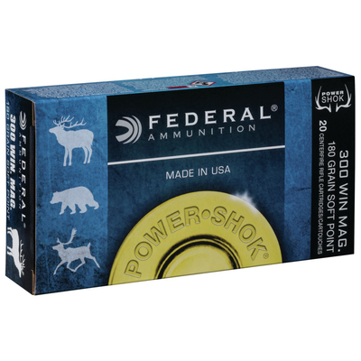 Cartouches FEDERAL Power Shok Soft Point 180 gr  .300 Win Mag