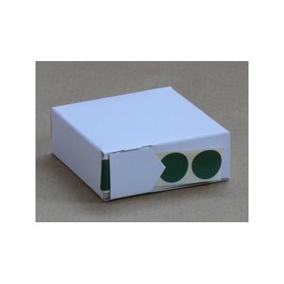 Pastilles autocollantes en dévidoir Vertes 19 mm