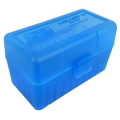 Boite de rangement MTM RS50 pour 50 cartouches .222, .223 Bleue