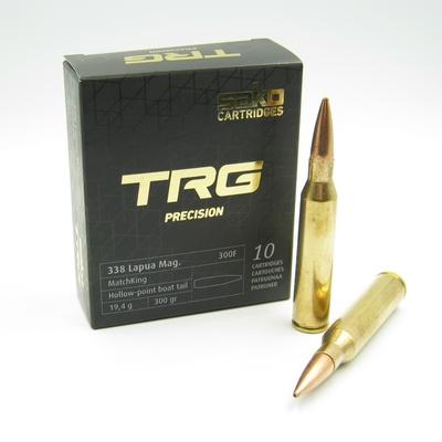 Cartouches SAKO TRG Précision 300 grains HPBT Matchking Calibre .338 Lapua Mag