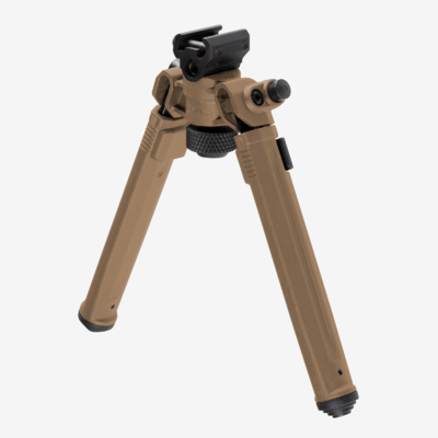 Bipied MAGPUL Réglable 7 positions de 16 à 26 cm Picatinny Flat Dark Earth (tête pivotante et rotative)