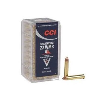 Cartouches CCI Gamepoint Calibre .22 Magnum