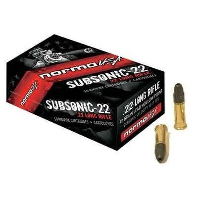 Cartouches NORMA SUBSONIC .22 LR