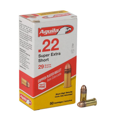 Cartouches AGUILA High Velocity .22 Short